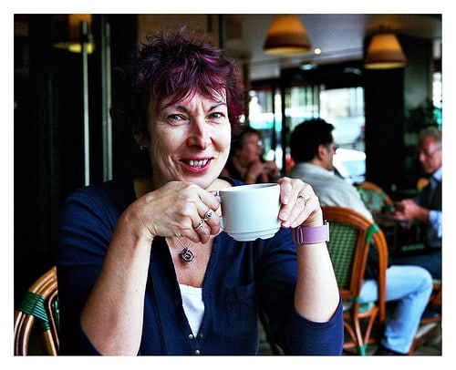 French Woman Paris Cafe