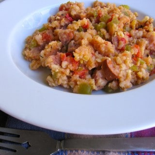 Shrimp and Chicken Sausage Healthy Jambalaya Recipe