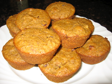 Platter of Fruity Flax Muffins