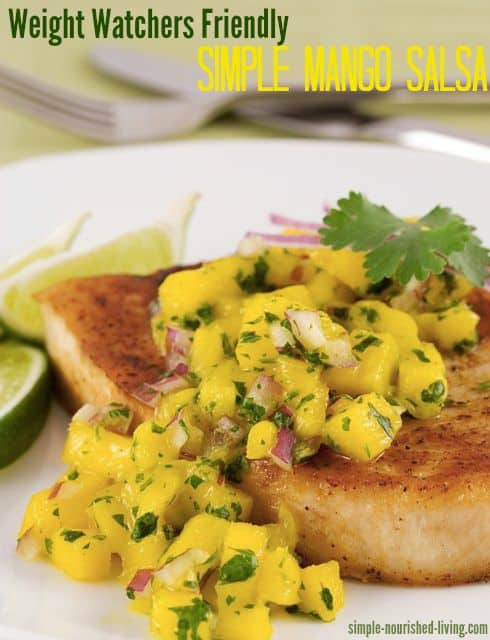 Simple mango salsa for weight watchers 1 points plus for Weight watchers points fish