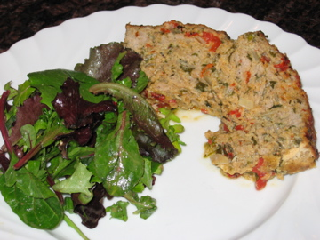 """Meatloaf and Green Salad"""