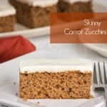 Skinny Carrot Zucchini Bars for Weight Watchers