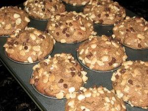 Banana Mocha Macadamia Nut Muffins