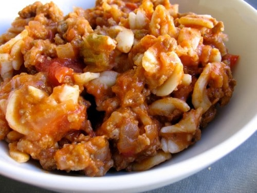 Hamburger Goulash with Elbow Macaroni - Simple Nourished Living