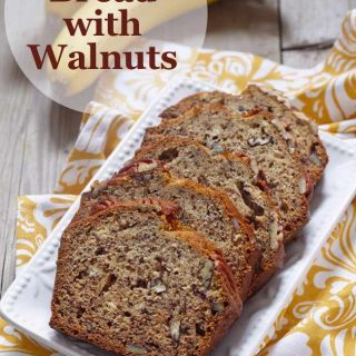Weight Watchers Moist Banana Bread with Walnuts