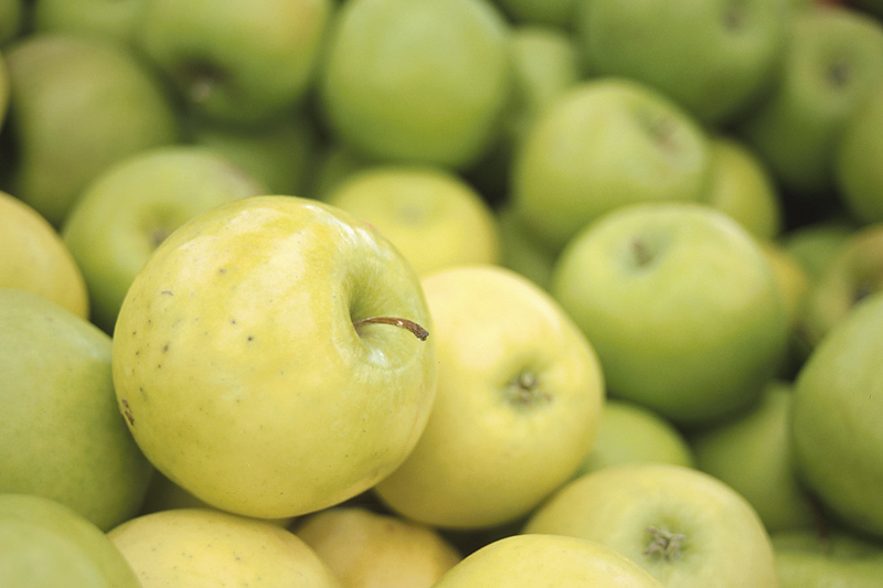 Close Up Green Apples