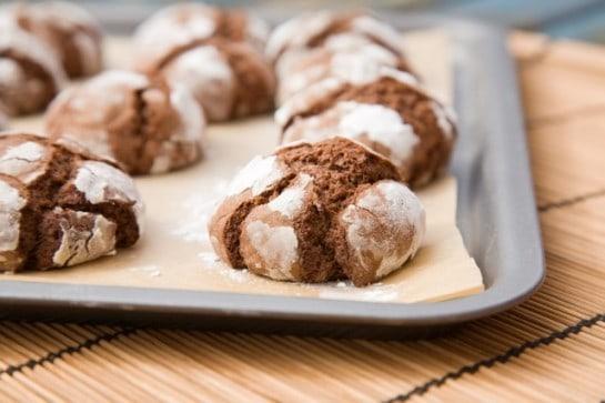 Cake Mix Chocolate Crinkle Cookies