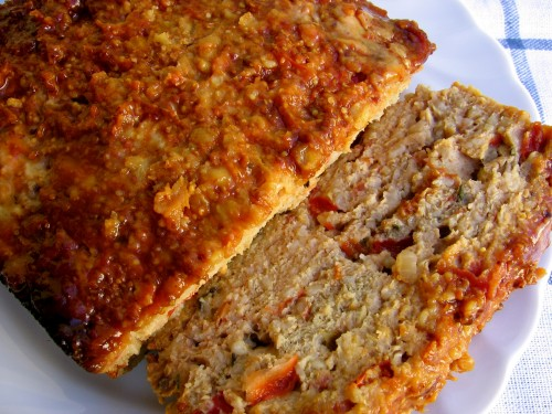 Plate of Sliced Meatloaf