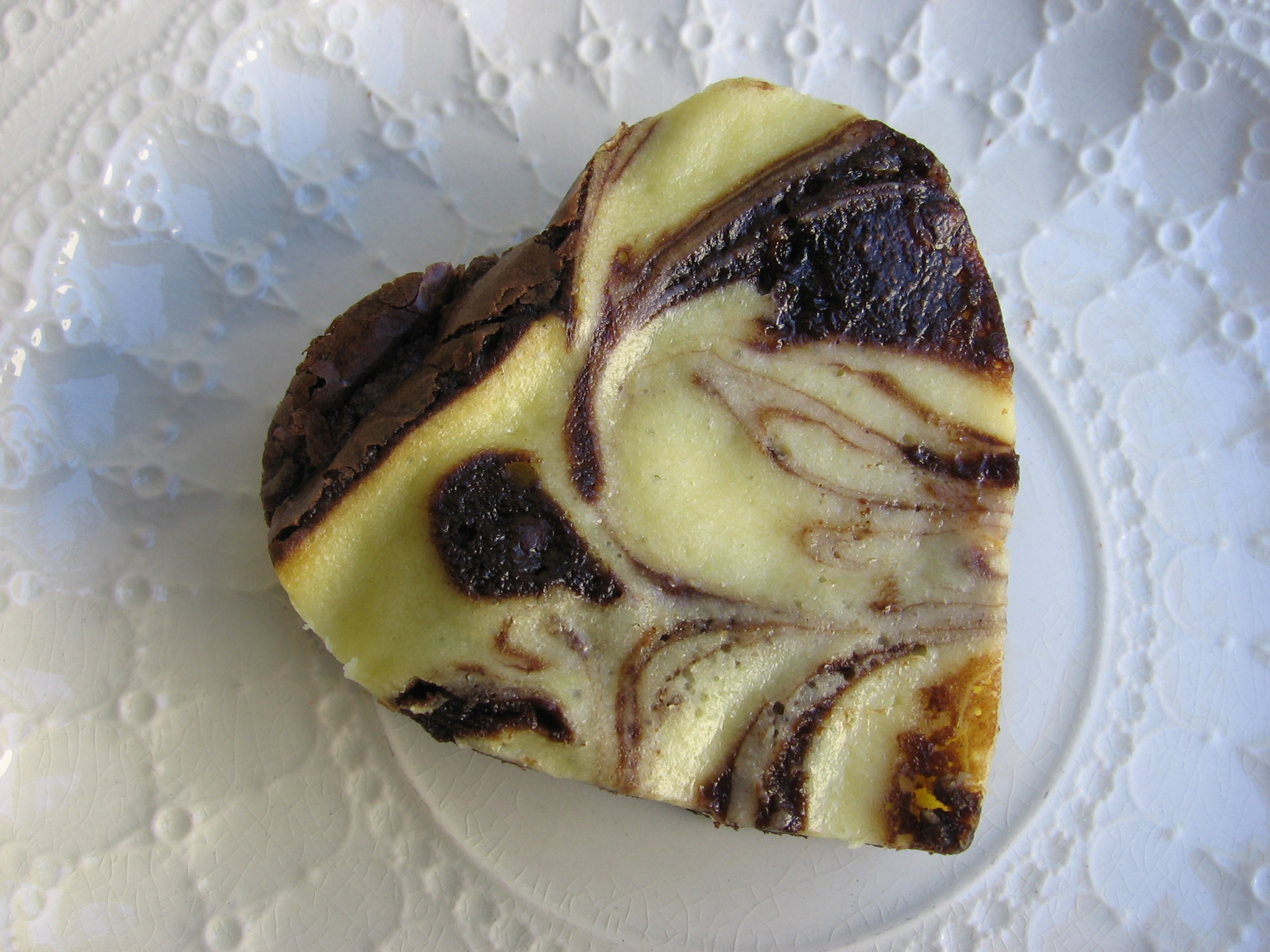 Cream Cheese Swirl Heart Shaped Brownie