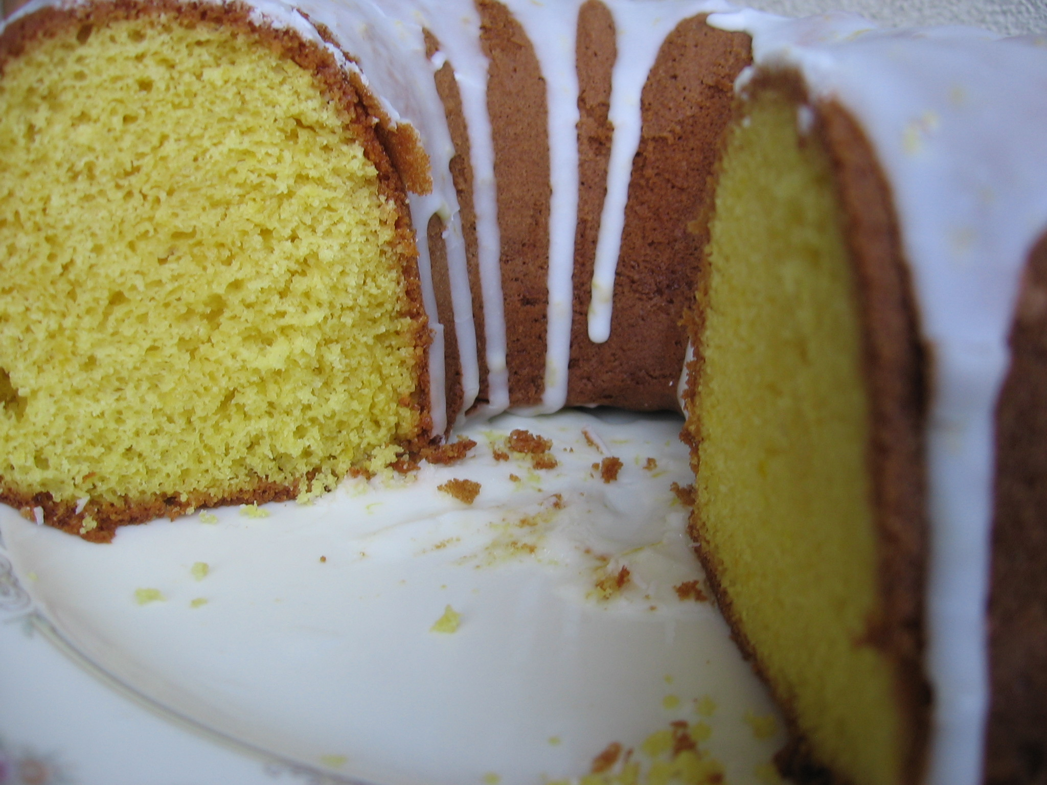 Lemon Supreme Pound Cake With Simple Lemon Icing Glaze Recipe