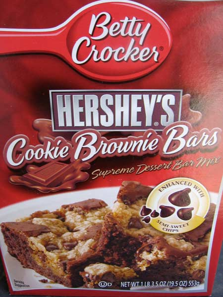 Box of Hershey's Cookie Brownie Bars from Betty Crocker
