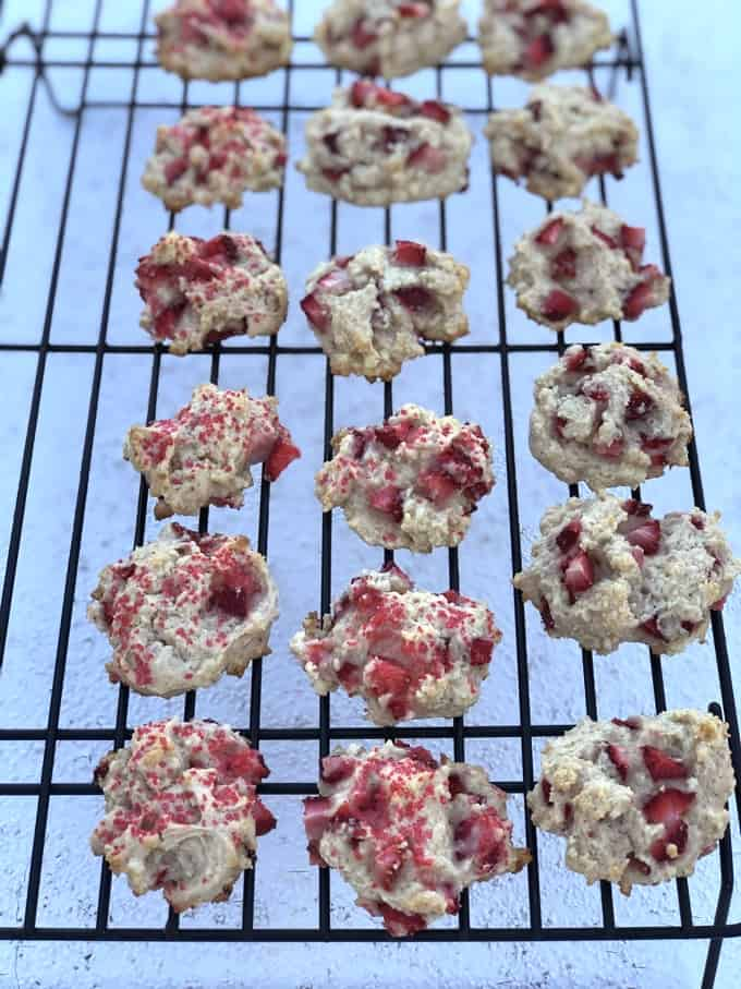 Strawberry Shortcake Cookies cooling on wire racks