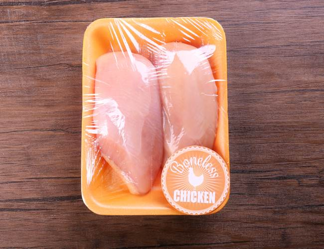 Chicken Meat Wrapped in Plastic