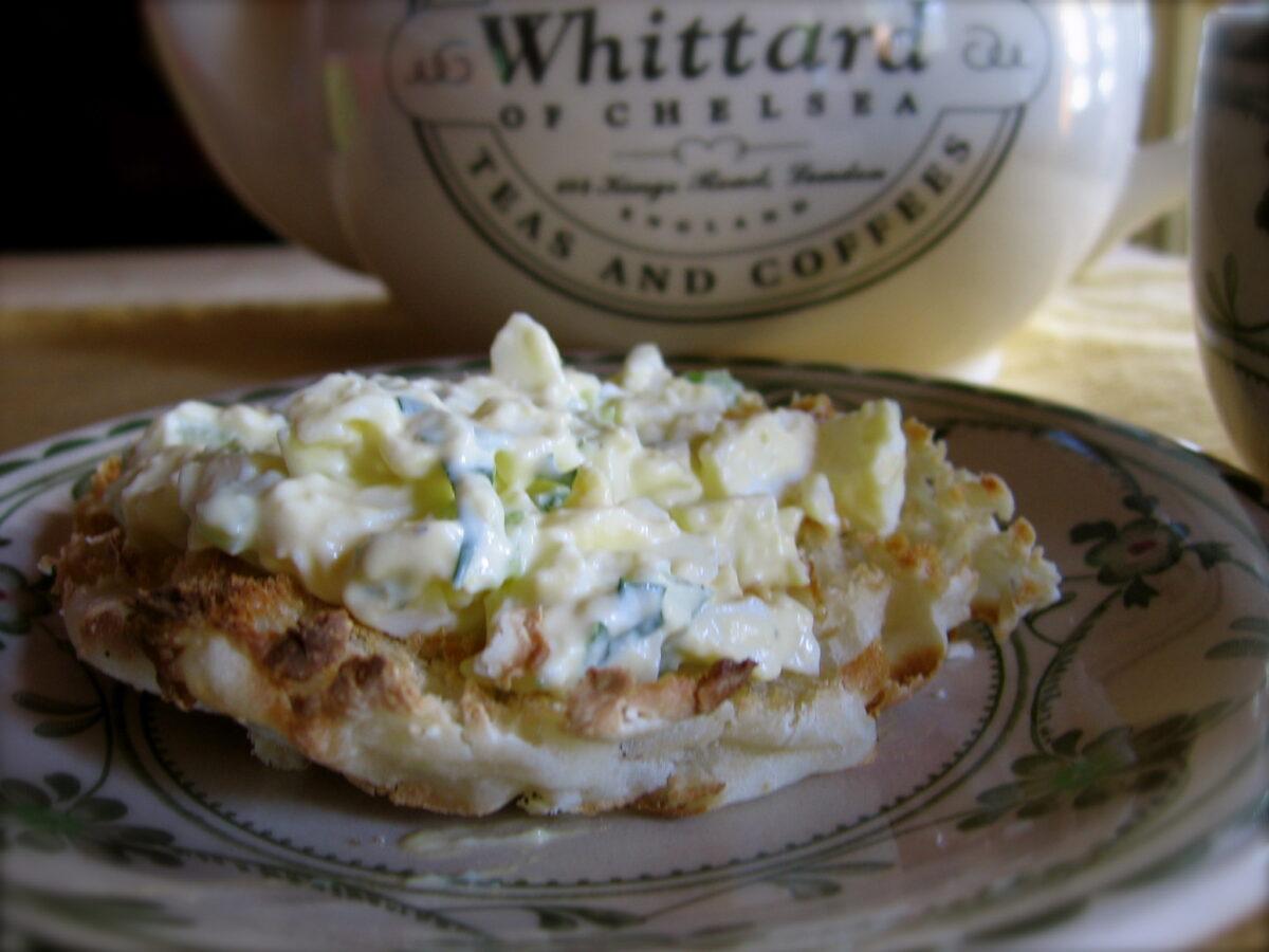 Egg Salad on an English Muffin