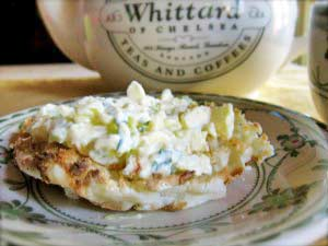 Open-Faced Egg Salad Breakfast Sandwich