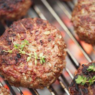 Grilled Beef Hamburgers