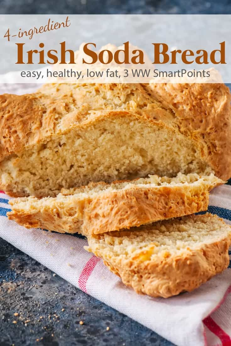 Easy Irish Soda Bread is lighter and low in fat thanks to the buttermilk - 3 Weight Watchers Freestyle SmartPoints! #simplenourishedliving #weightwatchers #wwfamily #ww #wwsisterhood #wwcommunity #wwsupport #easyhealthyrecipes #smartpoints #wwfreestyle #wwsmartpoints #smartpointsfam #beyondthescale #becauseitworks