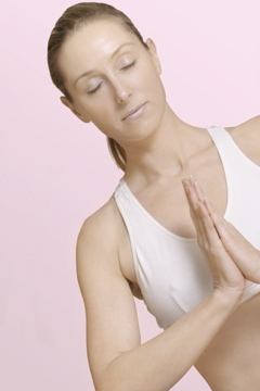 Serene Woman Doing Yoga