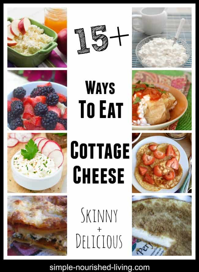 collage of cottage cheese food photographs