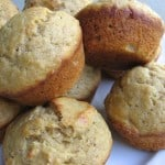 plate of muffins close up