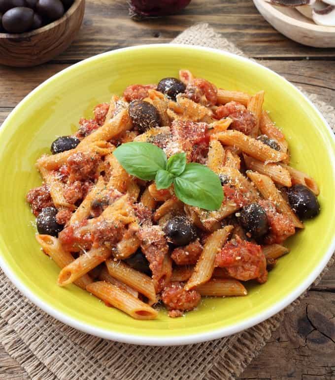 Mediterranean Chicken and Penne Pasta