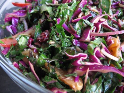 ... the kale is crispy took me to eat my salad crispy kale salad with lime