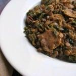 lentils, sausage and kale