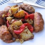 Sausage, Peppers, Onions and Potatoes in the Oven