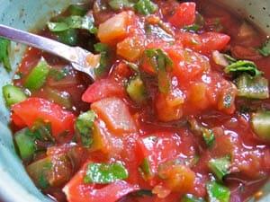 Easy Healthy Fresh Tomato Salsa Recipe – Weight Watcher's Pico de Gallo
