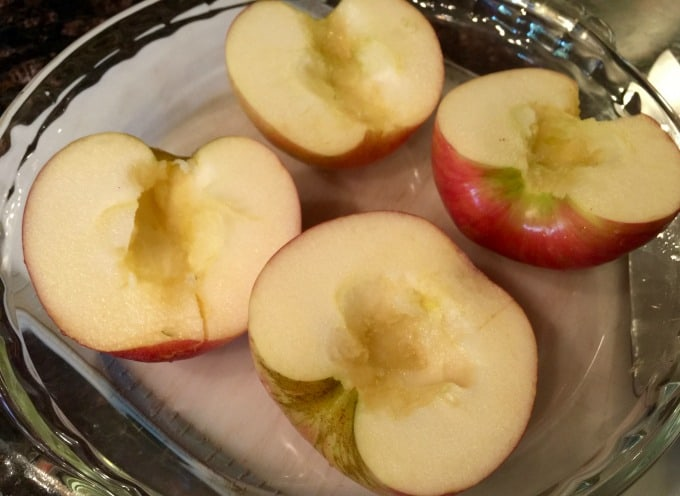 honey crisp apples cores removed