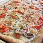 Healthy 3 Cheese Garden Vegetable Pizza with Whole Wheat Crust – 4 SmartPoints