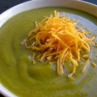 Slim & Healthy Cream of Broccoli Cheese Soup