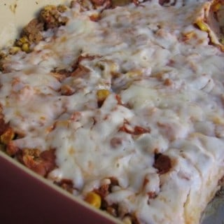 Slim & Healthy Ground Beef Enchilada Casserole