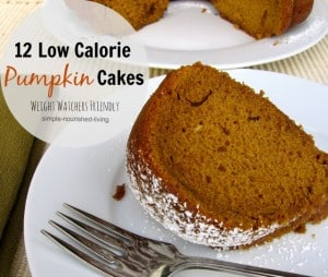 Healthy Low Fat Pumpkin Cakes