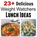 easy healthy weight watchers lunch ideas vertical collage pin text