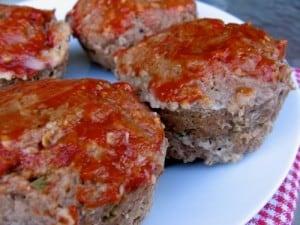 Skinny Mini Meat Loaf Muffins