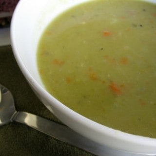 Slow Cooker Ham & Split Pea Soup