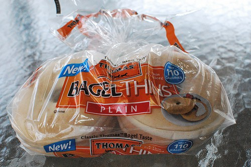 Bag of Thomas Bagel Thins
