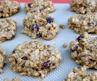 Skinny Cranberry Oatmeal Cookies