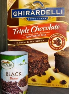 Ghirardelli Brownie Mix & Black Beans