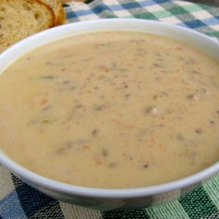 Makeover Cheeseburger Soup