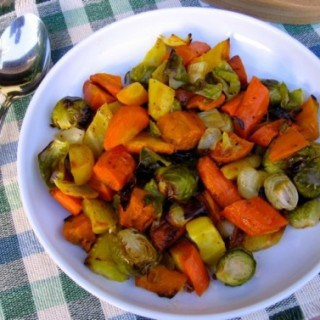 Roasted Brussels Sprouts Carrots Sweet Potatoes and Onions – 2 Points+