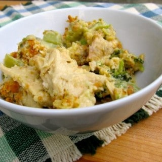 Lightened up version of chicken broccoli casserole