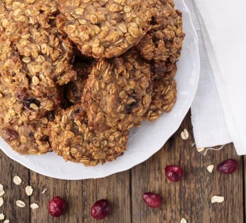 Skinny Cranberry Apple Oatmeal Cookies Simple Nourished Living