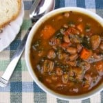 Hearty Slow Cooker Winter Vegetable and Bean Soup