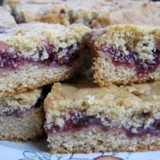 Jam or Marmalade Bars Recipe – 4 Points+