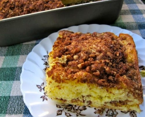 low fat cinnamon streusel coffee cake
