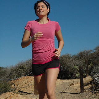 Woman Jogging outside