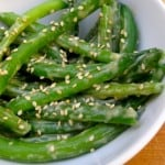Green Beans Tossed in Creamy Miso-Sesame Sauce