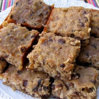 Low Fat Banana Chocolate Chip Bars